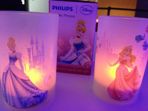 Le Candle Lights con i soggetti delle principesse
